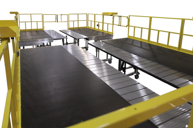 OSHA compliant portable aluminum safety platform for AH-64 Apache for helicopter maintenance.