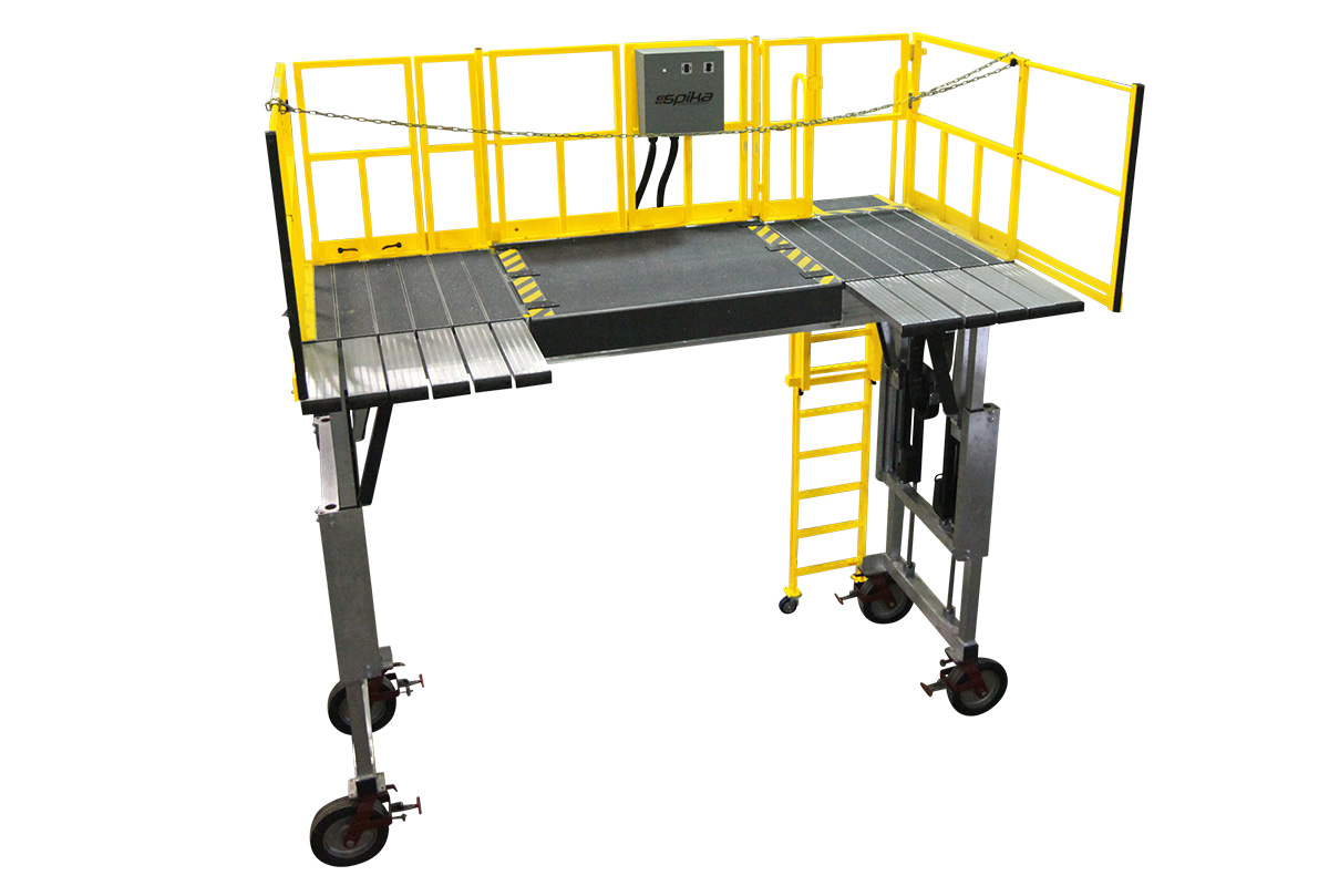 Custom Work Platforms – Dual Actuation Expanding Deck - Spika Design