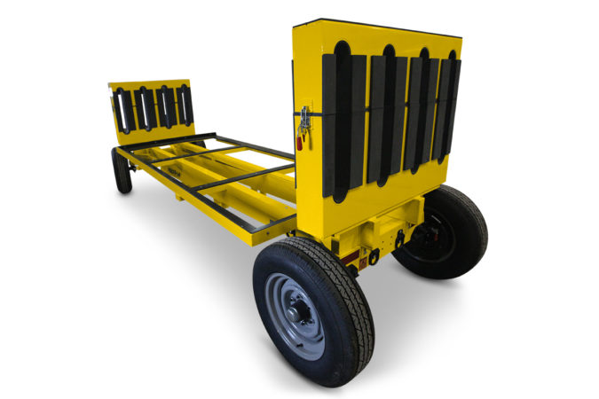 Helicopter maintenance blade rack that allows for economical breakdown for transport.