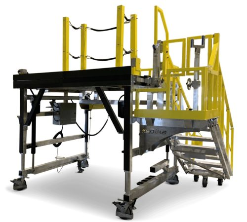 Image of Spika MGSE - Landing Gear access platform with shaft loading and position arms.
